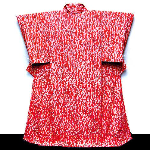 Cherry Blossom Red Pure Silk Kimono