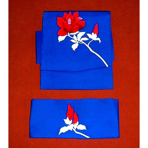 Red Rose 2 Part Silk Obi