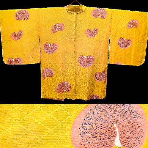 Peacocks Yellow Haori