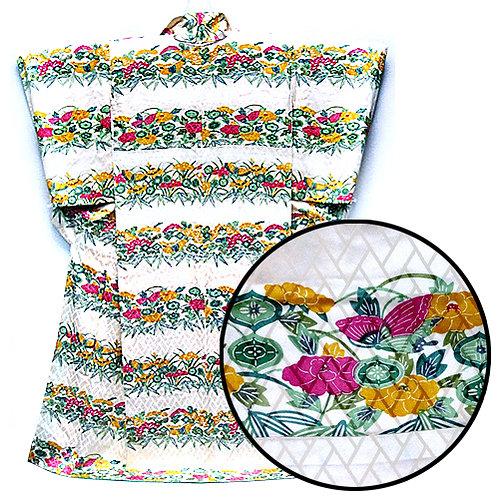 Butterfly & Flower Bands Kimono