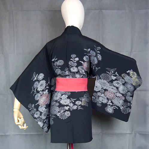 Urushi Flowers Silk Haori