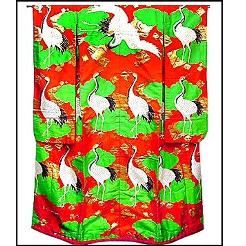 Bold Cranes Uchikake