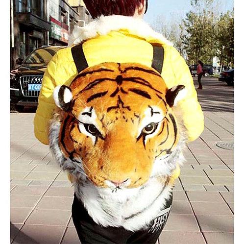 Huge Brown Tiger Backpack Bag - A