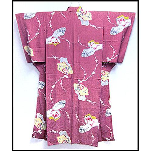 1920s Rosy Pink Kimono