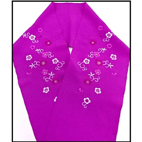 Embroidered Han Eri - Magenta-Purple