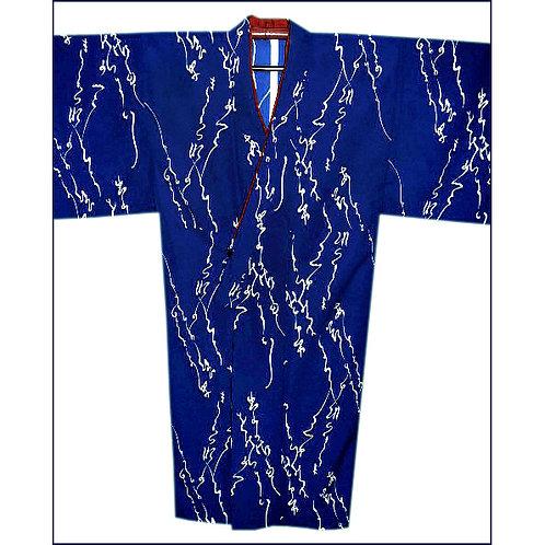 Blue Poetry Men's Kimono