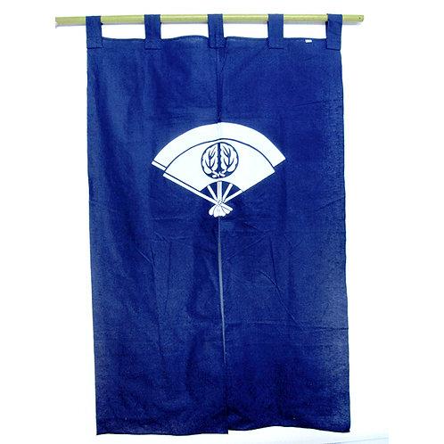 Fan Blue Noren