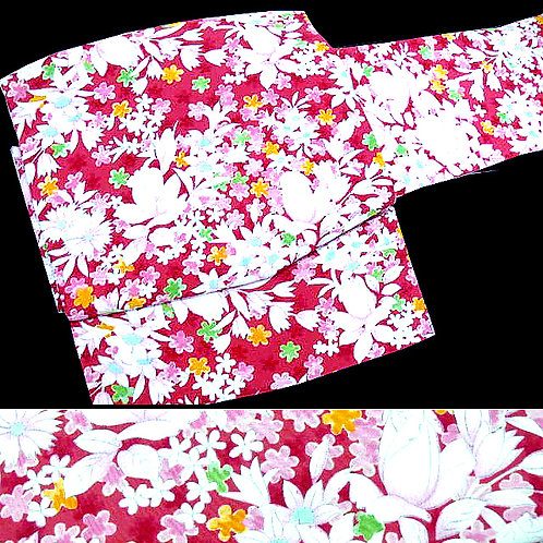 Beautiful Deep Pink Floral Obi