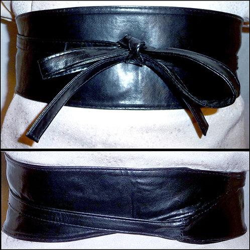 Black Tie Front Belt