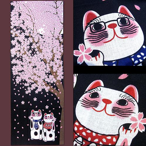 Hanami Cats Tenugui