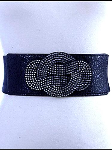 Oriental Knot Black Elastic Belt