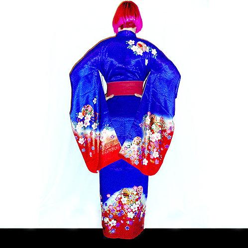 Blue Blossom Kimono