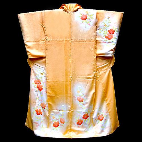Camelias Apricot Kimono
