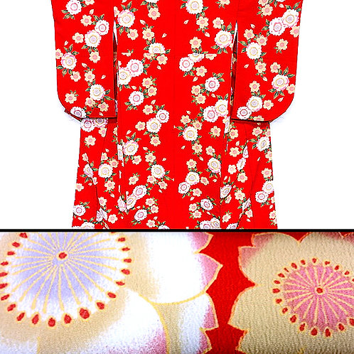 Cherry Blossom Red Ko Furisode