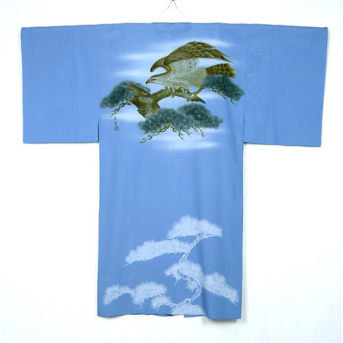 Powerful Hawk Juban Kimono