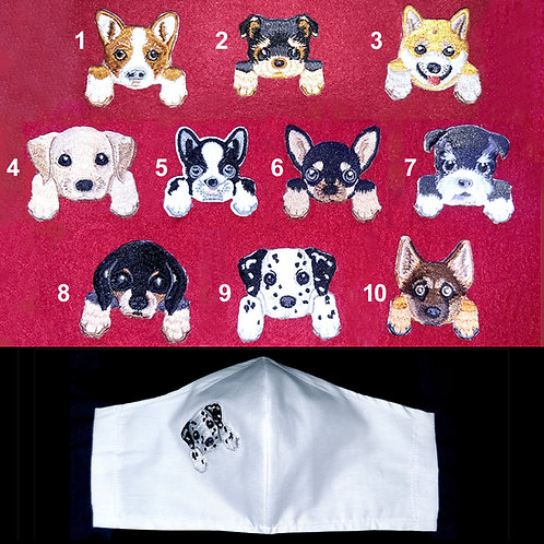 Puppy - Wired Face Mask - 3 Dogs, 6 Mask Colours, 2 sizes