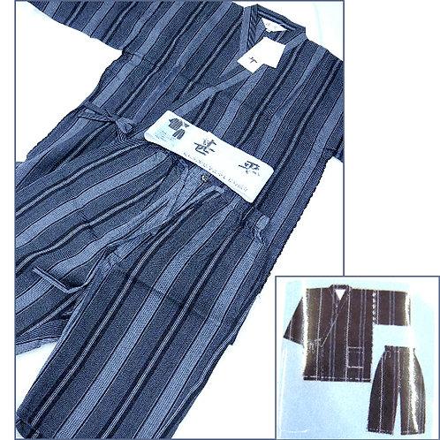Broad Stripe Jinbei - Black - L