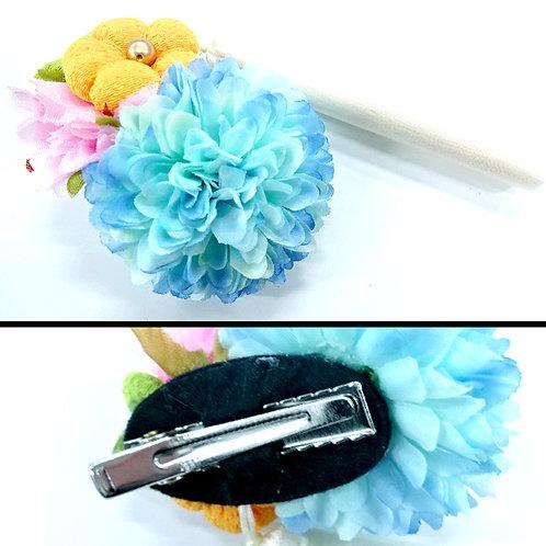 Tassel Japanese Hair Clip - Blue
