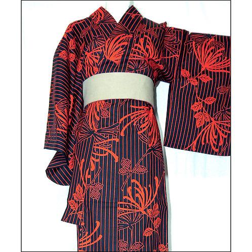 Ran Giku Cotton Kimono