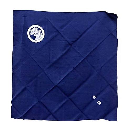 Blue Pure Silk Large Furoshiki