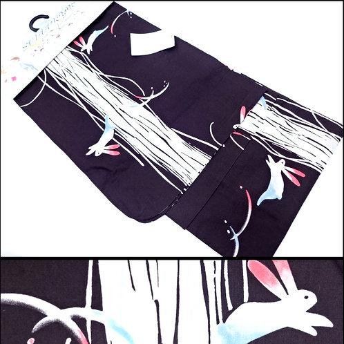 Bunnies Easy-Kimono - Zipped Yukata - M