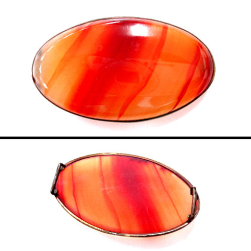 Agate Striped Oval Obidome