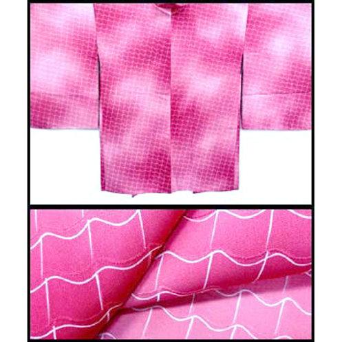 Tiles Pattern Bokashi Silk Haori