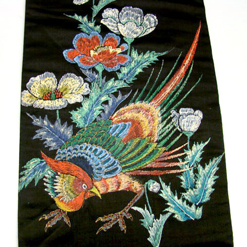 Hand Painted Pheasant Nagoya Obi