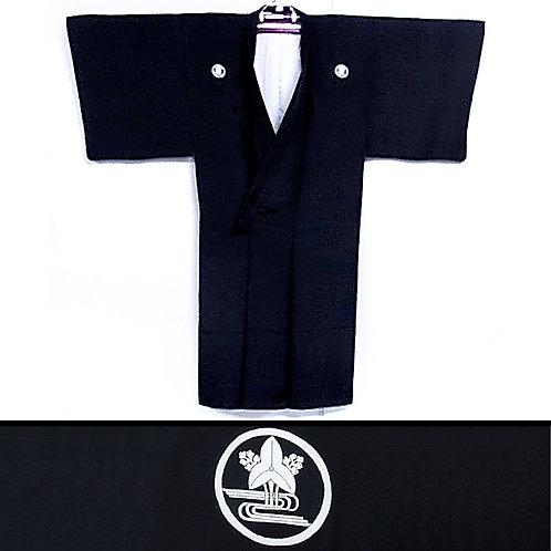 A Plantain Mon Silk Kimono