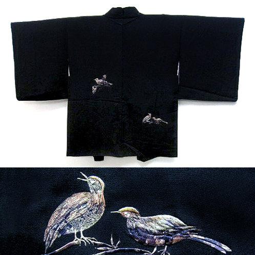 Embroidered Birds Haori