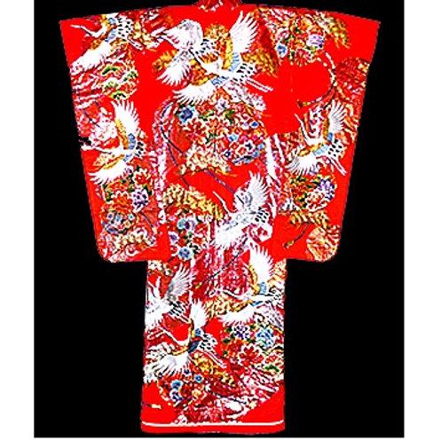 Glorious Red Uchikake Kimono