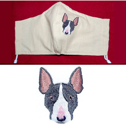 Embroidered French Bulldog - Face Mask - 6 Colours - 2 Sizes