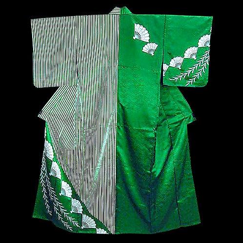 Katamigawari Green Kimono