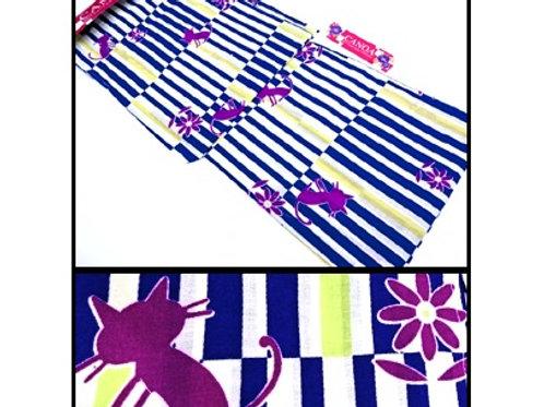 Cats & Stripes Yukata Kimono