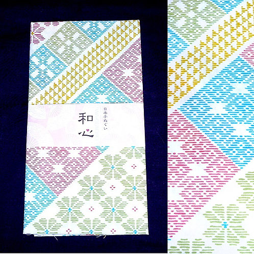 Stitch Print Tenugui
