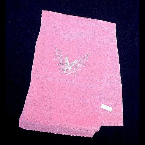 Butterfly Embroidered Peachy Pink Obiage