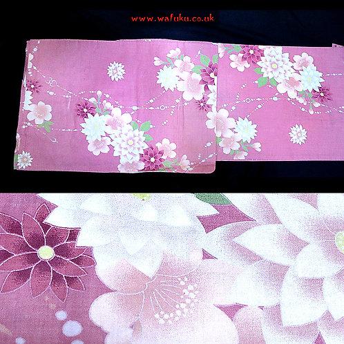 Floral Pink Yukata Kimono