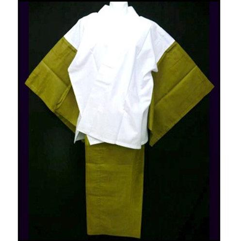 2 Part Nibushiki Naga-Juban - Olive L