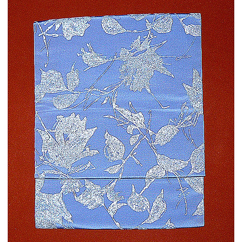 Blue-Mauve Silk 2 Part Obi