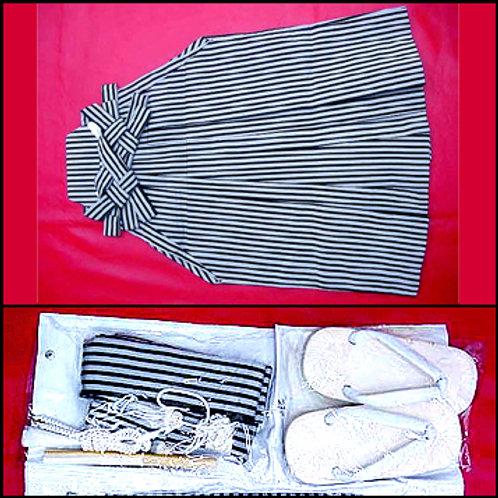 Striped Hakama Set