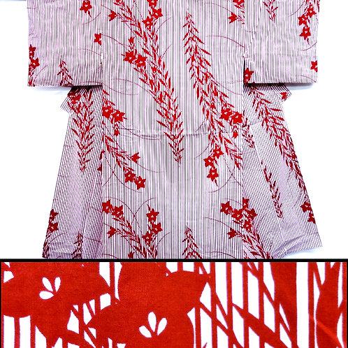 Kikyo Stripes Men's Kimono & 2 Sashes