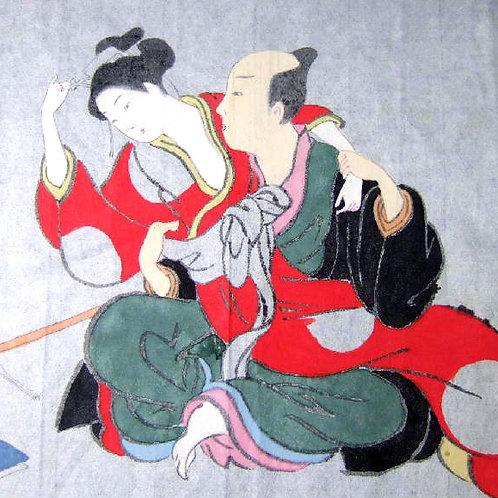 Shunga Erotic Woodblock Ukiyoe 1