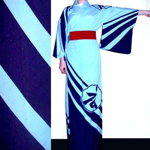 Kanji Odori Hitoe Kimono