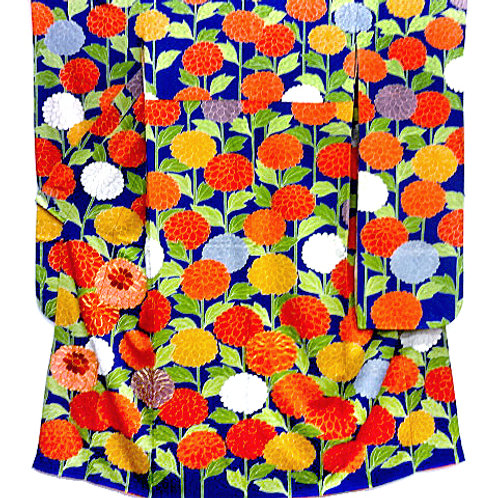 Embroidered Many Mums Kimono