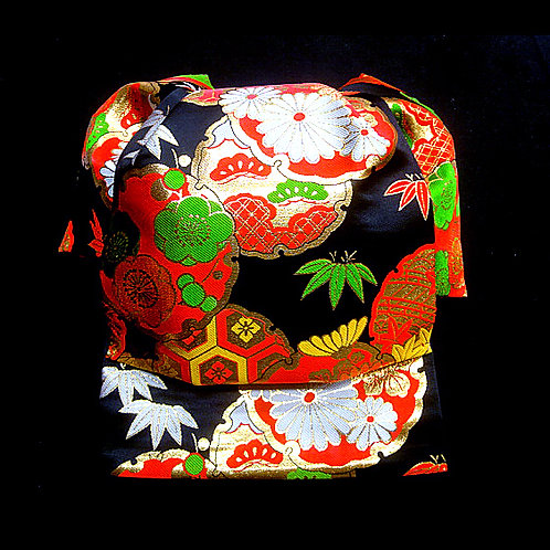 Black Brocade Fukurasuzume Obi