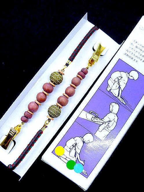 Wood Bead Tasuki Kimono Sleeve Clip