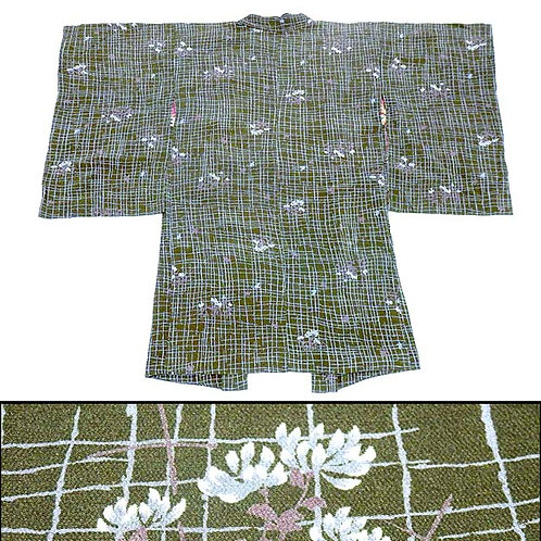 1920s Green Extra Long Antique Haori