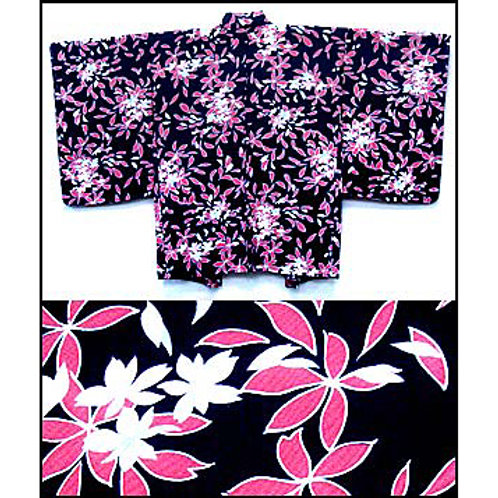 Black Floral Haori