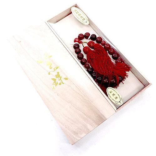 Agate Buddhist Beads - Jyuzu / Nenju - Boxed