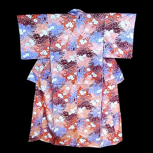 Floral Rinzu Pure Silk Kimono